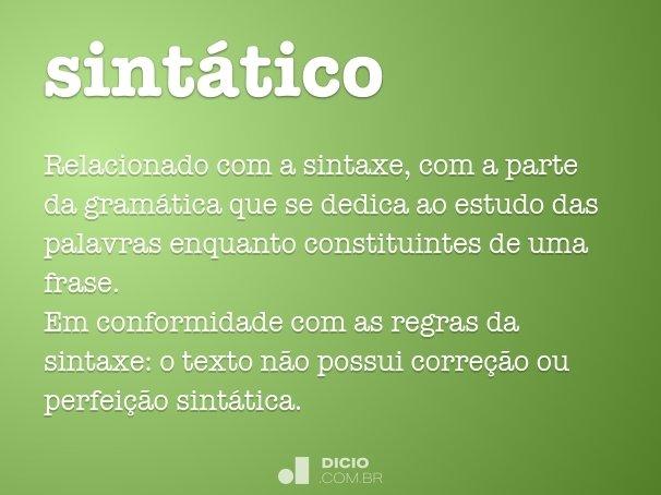sintático