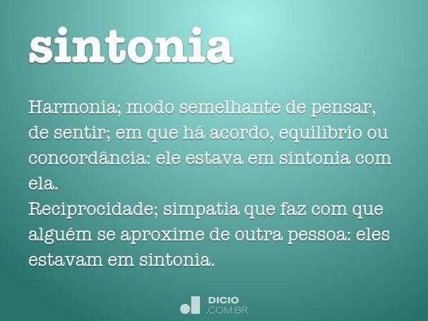 Sintonia Dicio Dicionário Online De Português