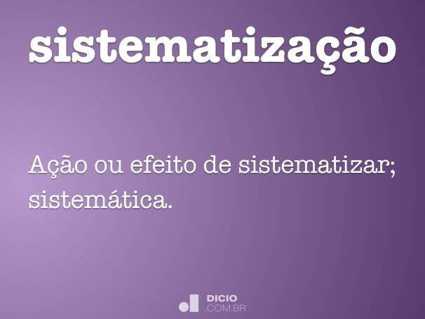 sistematiza��o