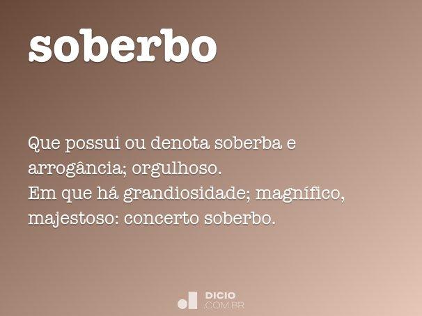 soberbo