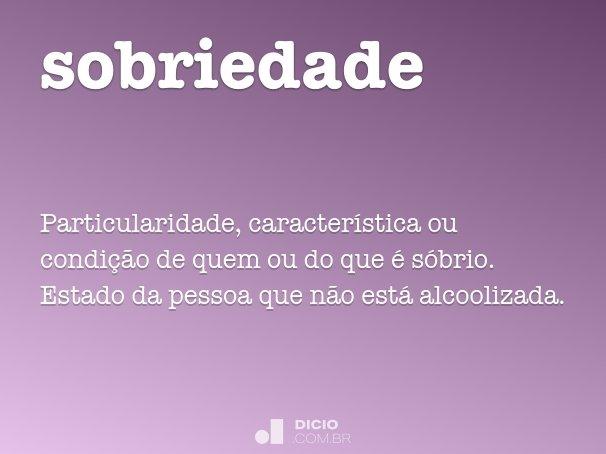 sobriedade