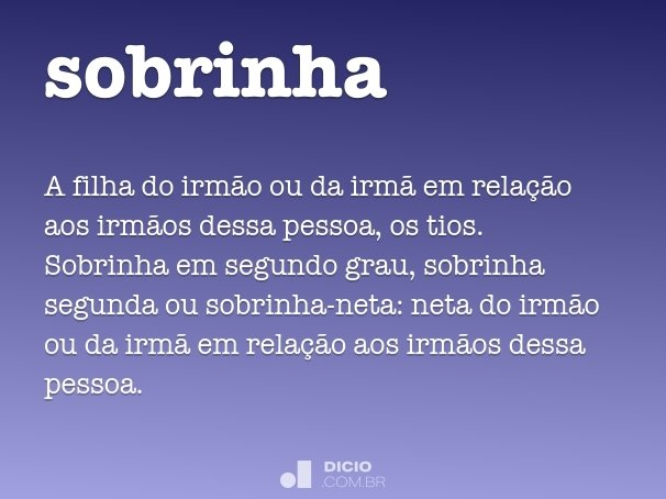 sobrinha