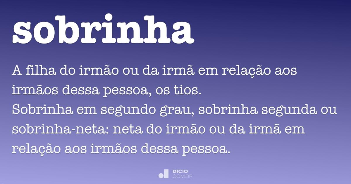 Sobrinha Dicio Dicionário Online De Português