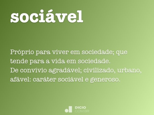sociável