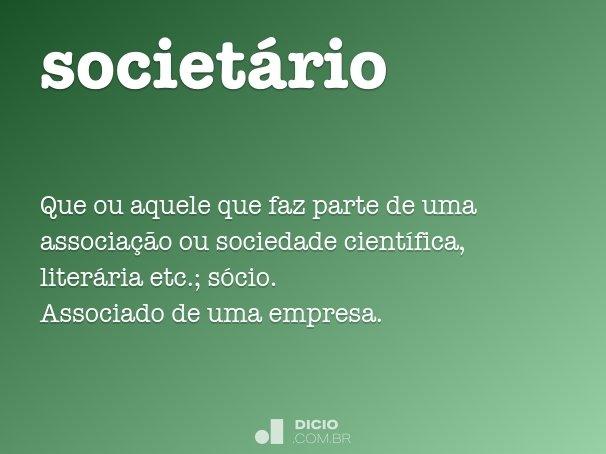 societ�rio
