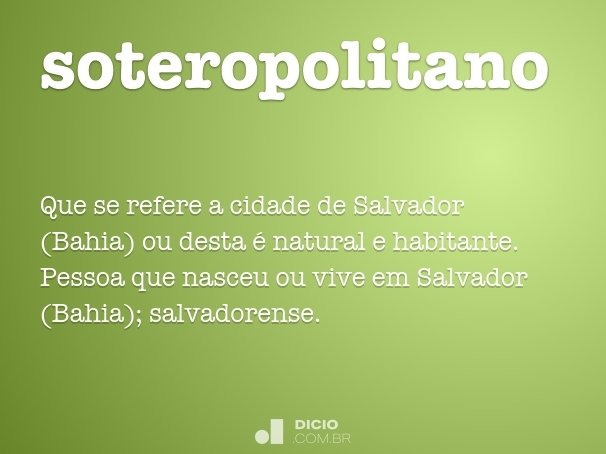 soteropolitano