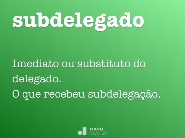 subdelegado
