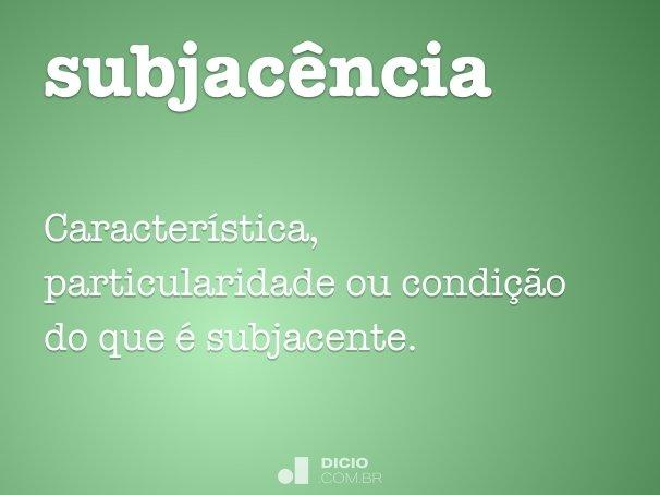 subjac�ncia