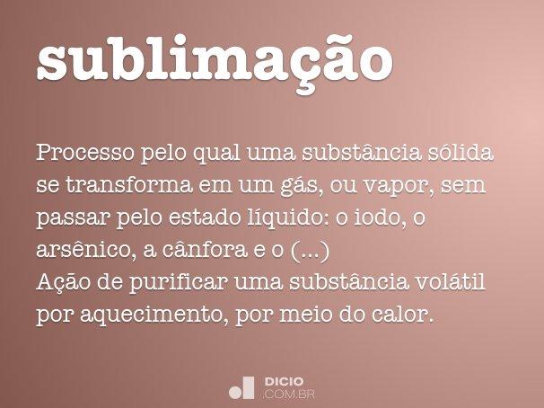sublima��o
