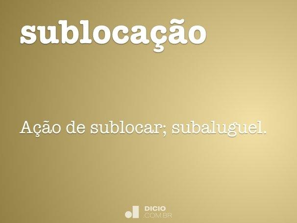 subloca��o