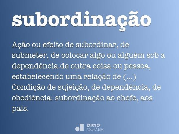 subordina��o