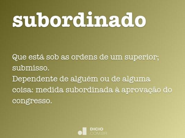 subordinado