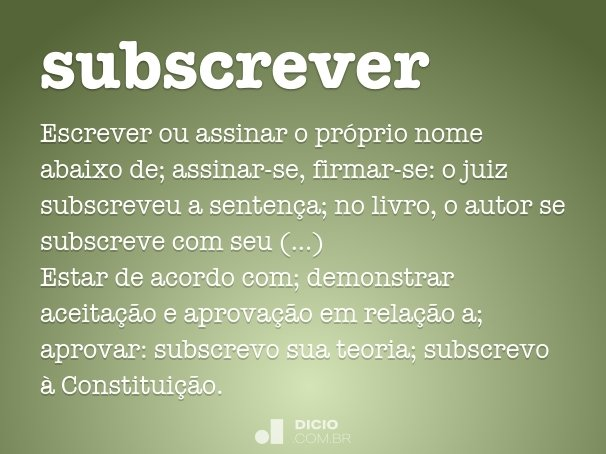 subscrever