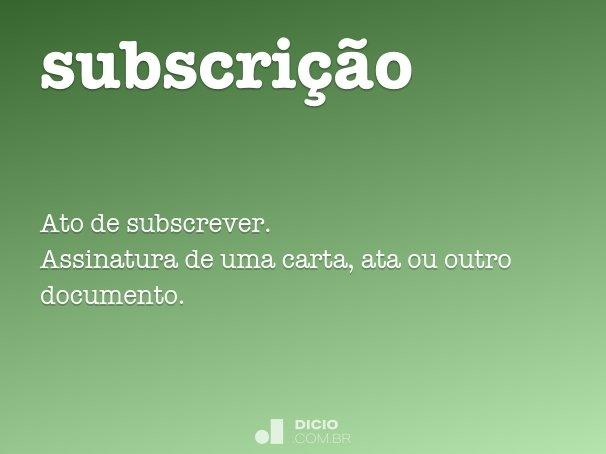 subscri��o