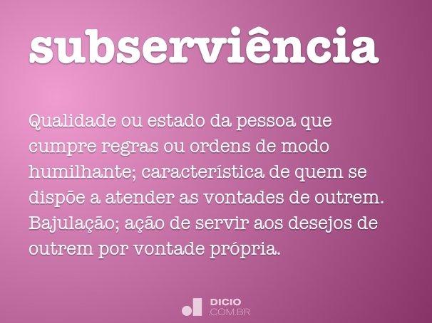subservi�ncia