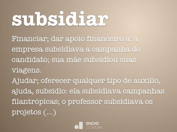 subsidiar