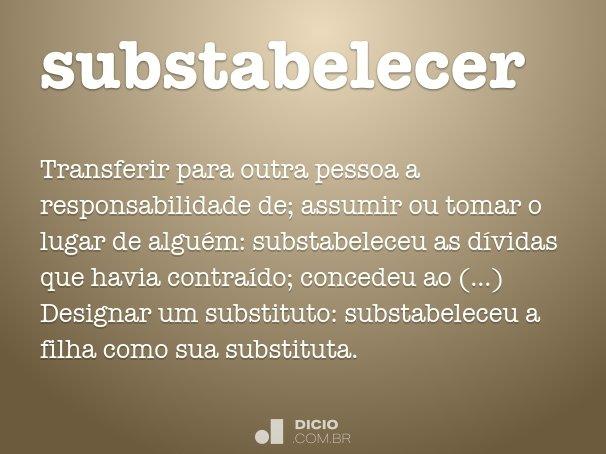 substabelecer