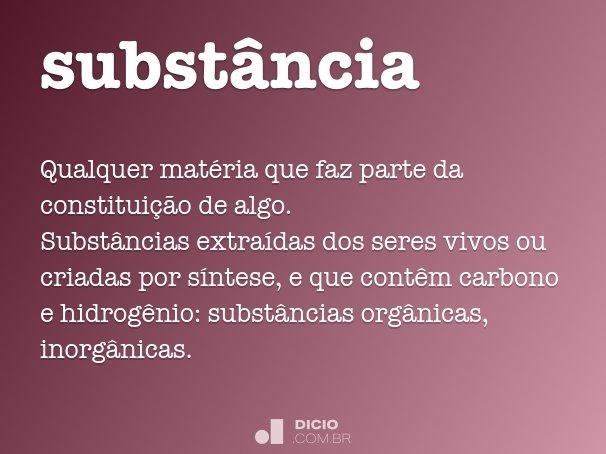 subst�ncia
