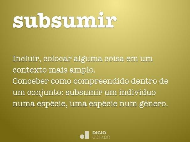 subsumir
