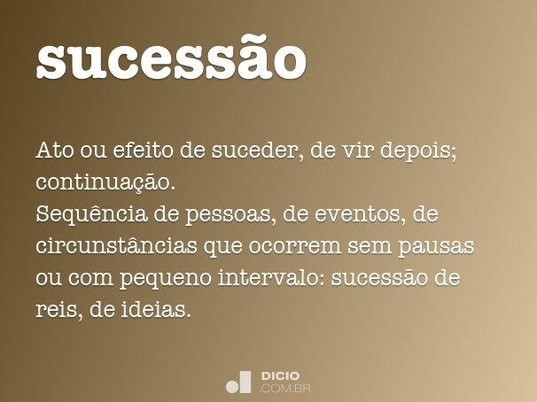 sucess�o