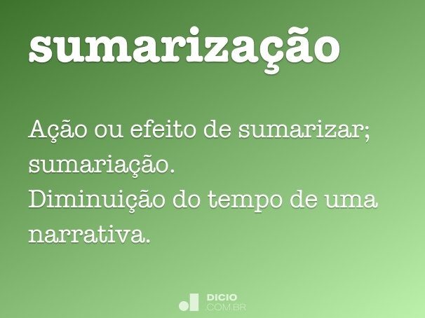 sumariza��o