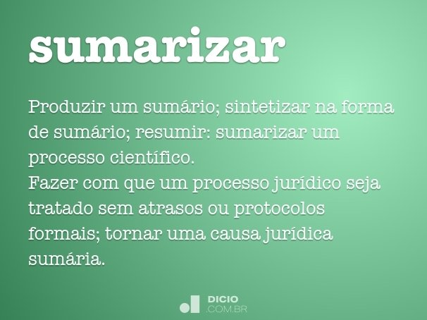 sumarizar
