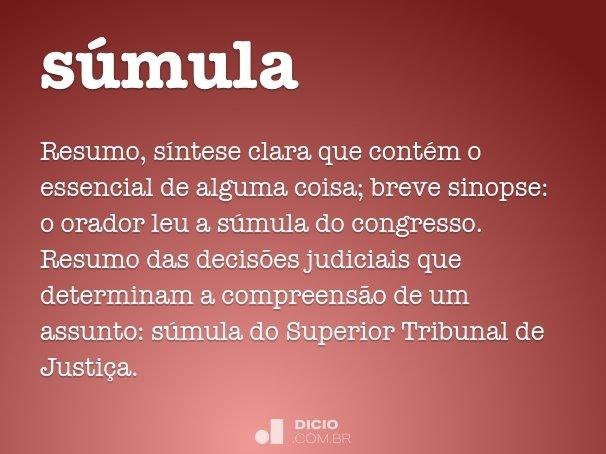 súmula