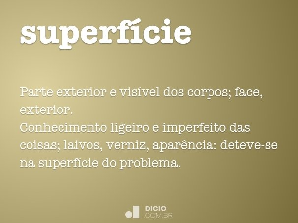 superf�cie