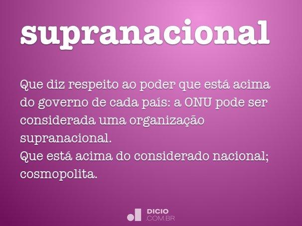 supranacional