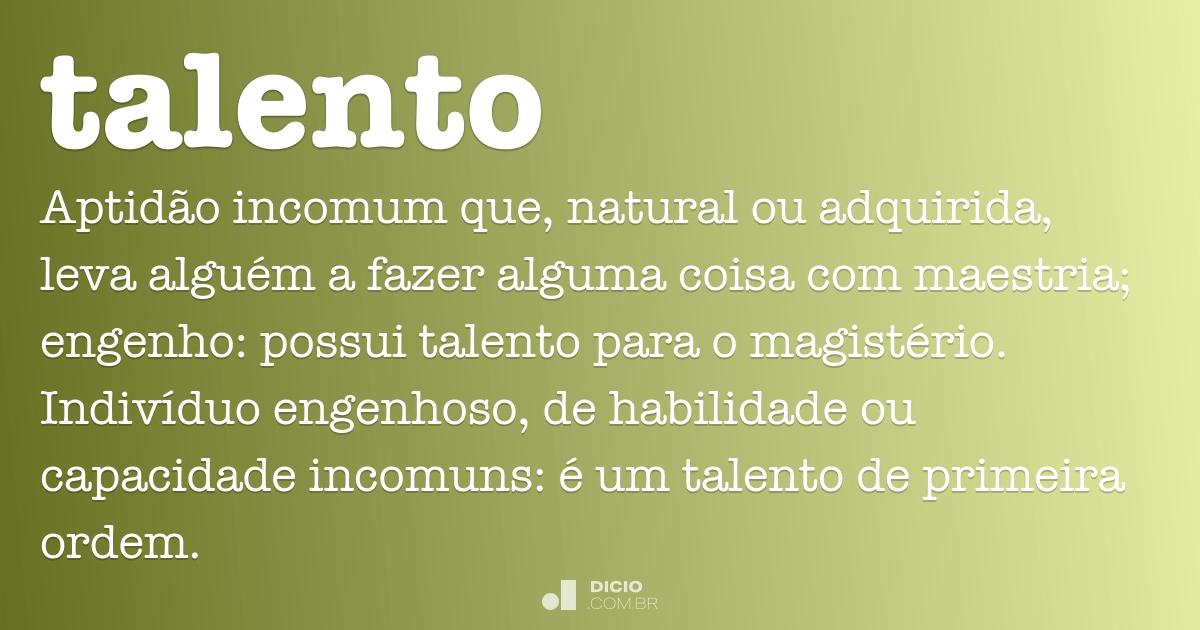 talento dicio dicion rio online de portugu s