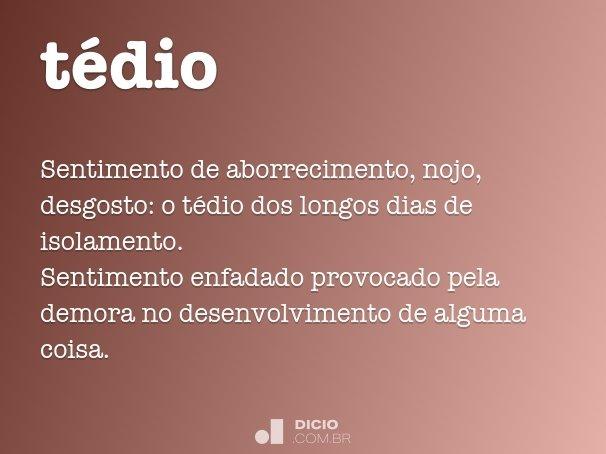 tédio