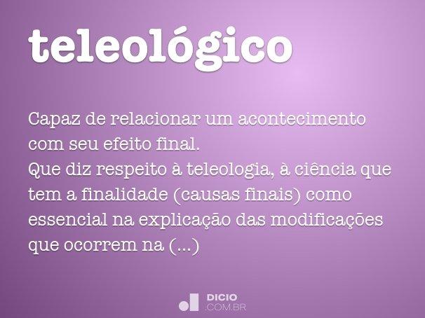 teleol�gico