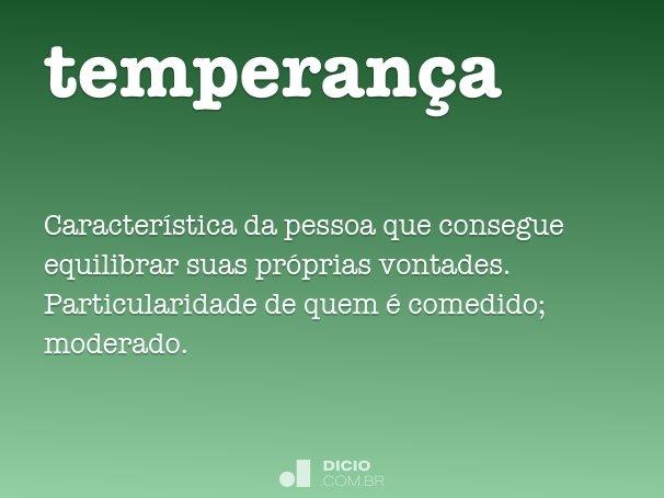 temperan�a