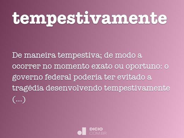 tempestivamente
