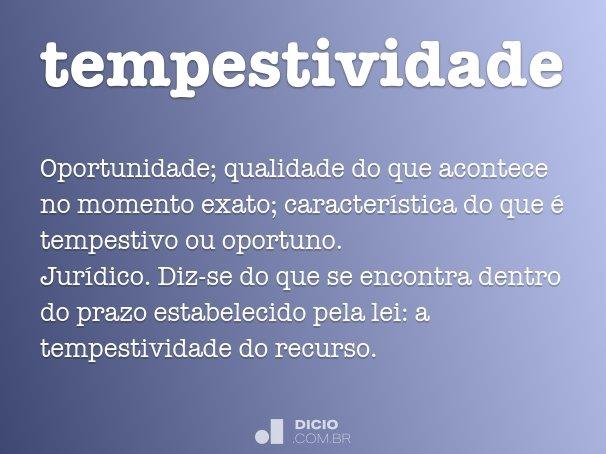 tempestividade