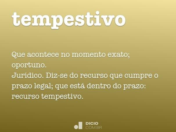 tempestivo
