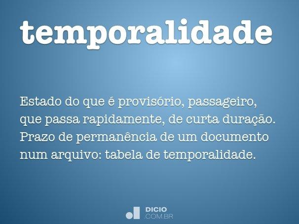 temporalidade