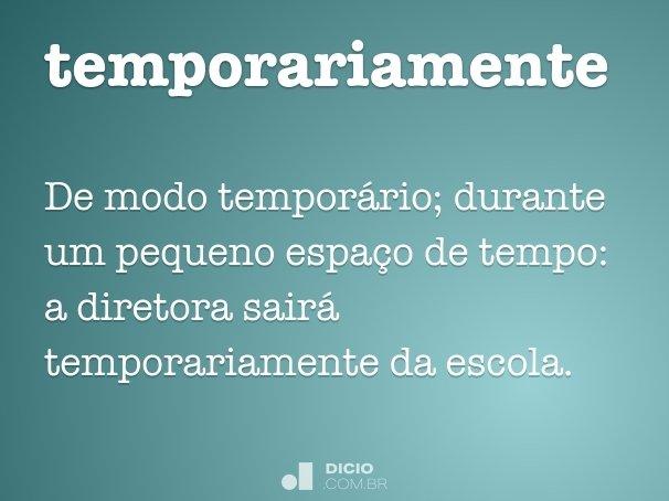 temporariamente