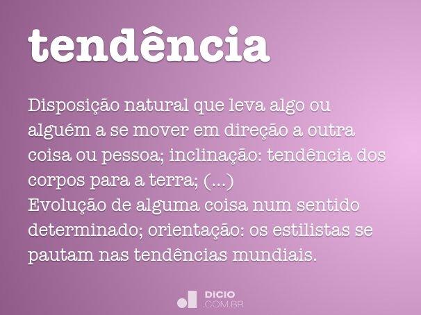 tend�ncia