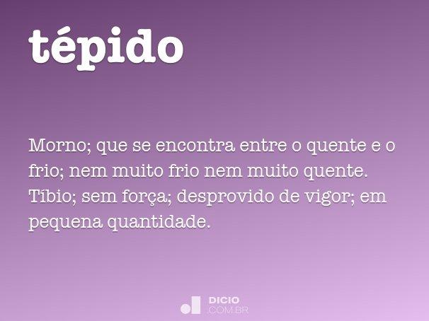 tépido