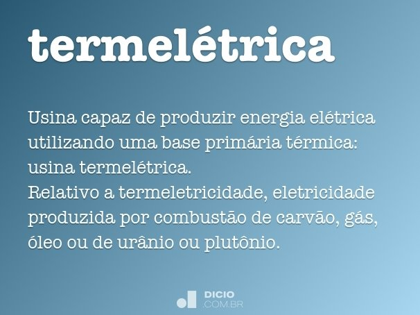 termelétrica