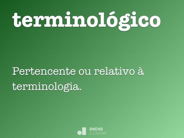 terminol�gico