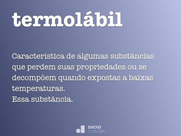 termolábil