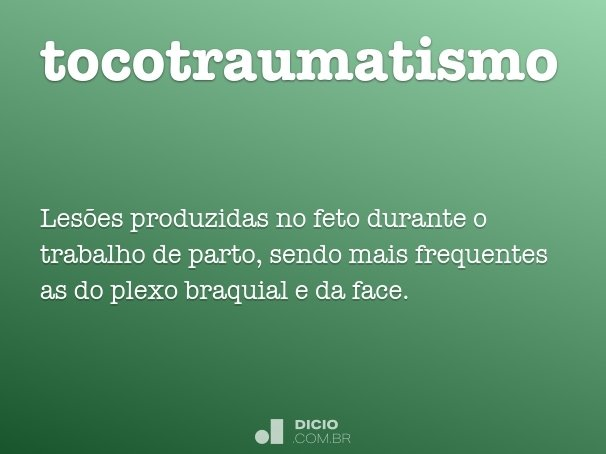 tocotraumatismo