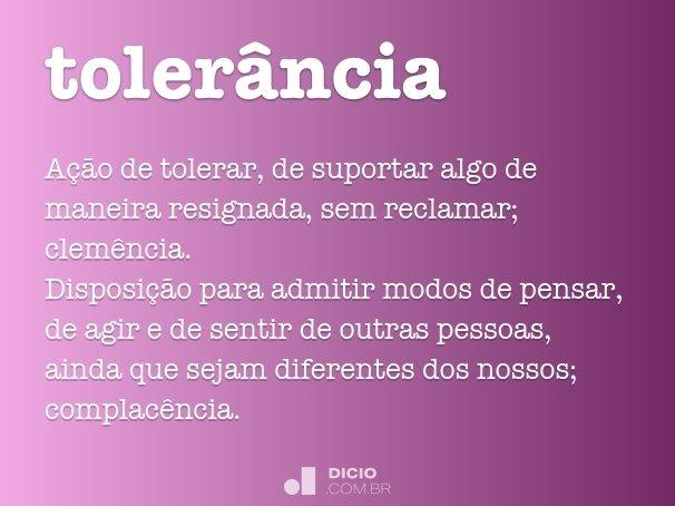 toler�ncia