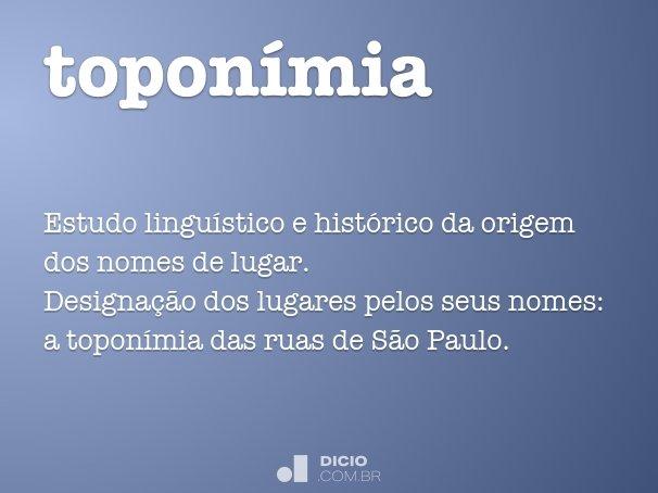 topon�mia