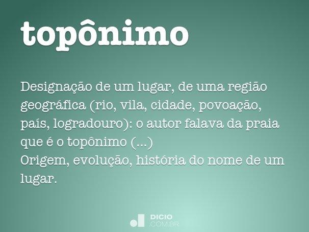 topônimo