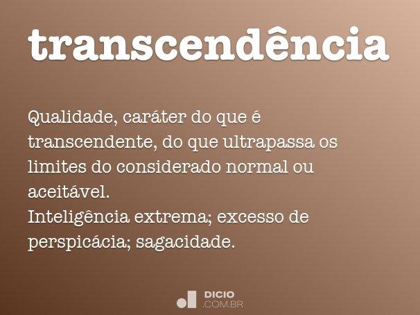 transcend�ncia