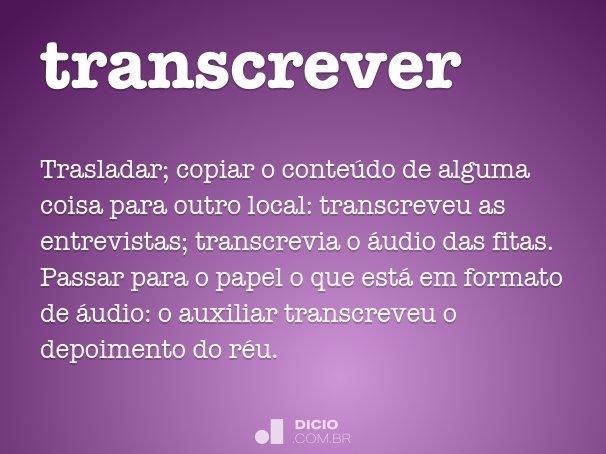 transcrever
