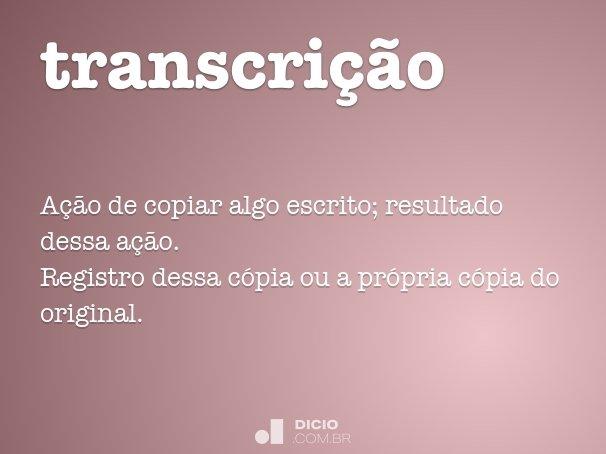 transcri��o